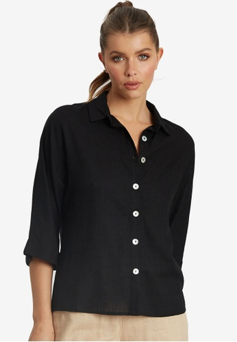 The Fated black Jacinta Shirt F91C1AA5F54627GS_1