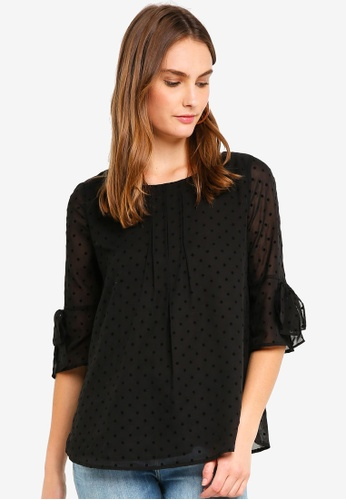 ESPRIT black Woven Long Sleeve Blouse 20DF2AAA322411GS_1