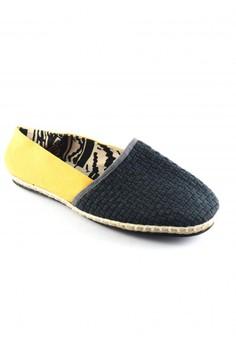 Habi Footwear Men's Classic Espadrilles - Gray/Yellow