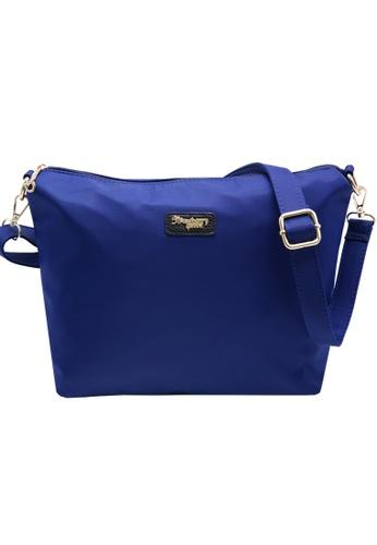 STRAWBERRY QUEEN blue Strawberry Queen Flamingo Sling Bag (Nylon J, Navy Blue) A3BFEAC4938B38GS_1
