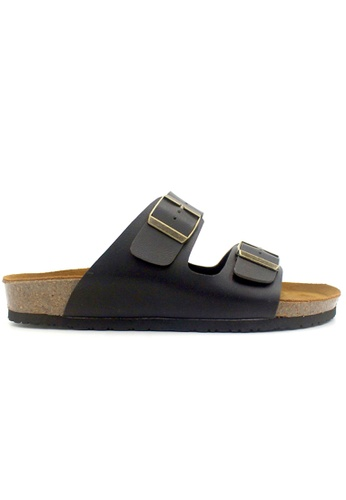 SoleSimple 黑色 Athens - 黑色 百搭/搭帶 軟木涼鞋 37C22SHD100129GS_1