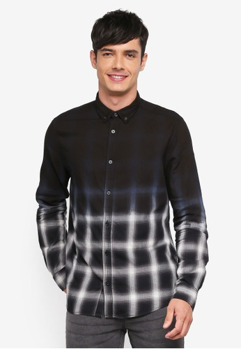 Only & Sons black Varly Dip Shirt 65035AA108029AGS_1
