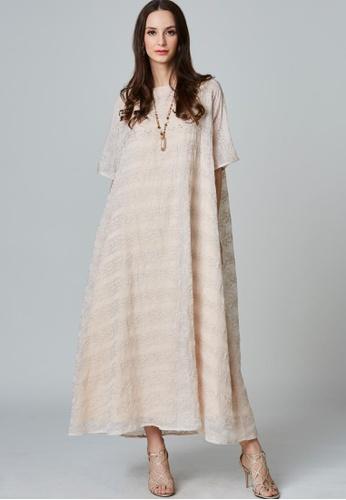 East India Company Maryam- Sparkling exterior kimono maxi dress FB9C5AA8D8286DGS_1