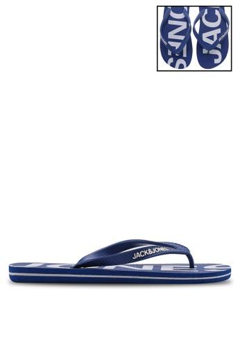 Jack & Jones blue Logo Flip Flops A993DSH6CA3C21GS_1
