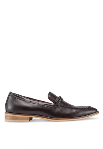 ACUTO brown Leather Loafers DF9B2SH28ABC61GS_1
