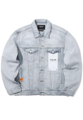 Fivecm navy Logo label denim jacket 2B6E0AA27A1397GS_1