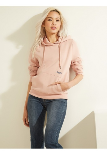 Guess pink Guess Ladies Long Sleeve Hoodies 1C530AAD17A3E0GS_1