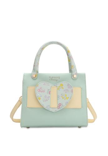 PLAYBOY BUNNY green Women's Hand Bag / Top Handle Bag / Shoulder Bag 1F3A7AC07AA3C0GS_1