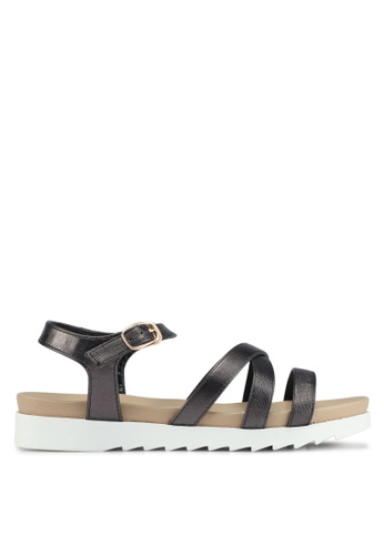 Bata black Bata Crossover Multi Strap Sandals 87D23SH8BAF11AGS_1