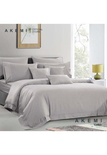 AKEMI grey AKEMI Cotton Select Affinity - Sage Box Ash Grey (Quilt cover Set) F8220HL846EFD0GS_1