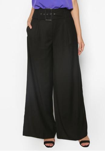 Camilla 腰帶闊管長褲, 服飾, 長褲及esprit hk store內搭褲