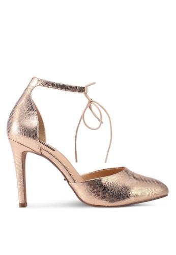 ONLY gold Pina Strap Shiny Metallic Pumps ON573SH0T0DFMY_1