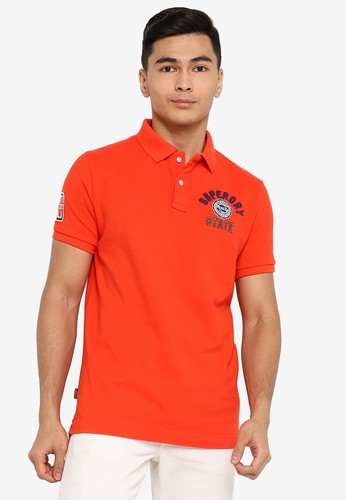 Superdry orange Classic Superstate Short Sleeve Polo Shirt A3C50AAA9CEC31GS_1