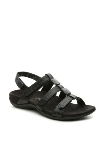 Vionic black Rest Amber Sandal 03E8FSH698B60EGS_1