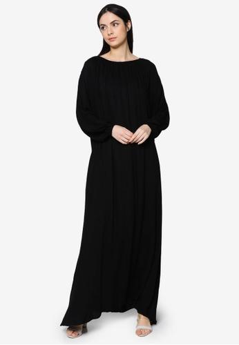 ZALIA BASICS black Lounge Maxi Dress 3EE81AA36DB116GS_1