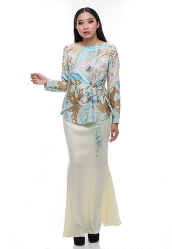 Amber Modern kurung from Secretcode in Yellow