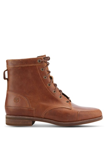 Timberland brown Somers Falls Mid Lace Boots TI063SH0RIF3MY_1