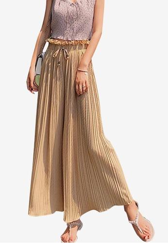 Sunnydaysweety beige Beige Ribbon Wide Leg Pants C5B2DAA081F866GS_1