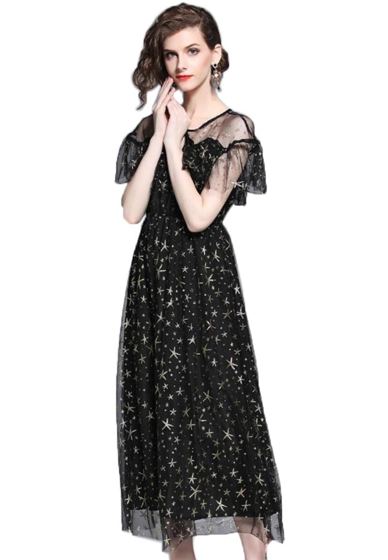 A 2018 Black Black Star Skirt New Sunnydaysweety A060809 Patterned line RZZrqIwSn