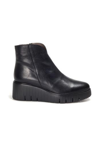 Shu Talk 黑色 WONDERS 柔軟真皮舒適短靴 AD8CESHAD73638GS_1