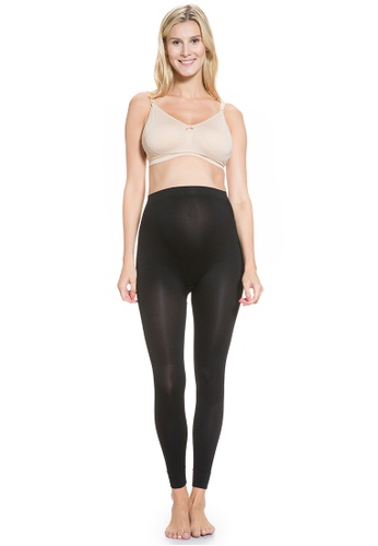 Mayarya black Over Belly Compression and Support Leggings 14EB1AA5032277GS_1