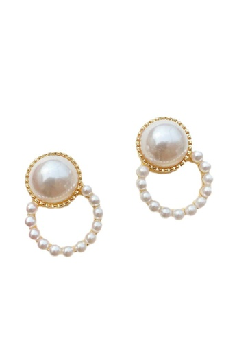Kings Collection gold Vintage Faux Pearl Earrings (KJEA20060) 017BCAC74B72B0GS_1