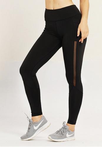 LYCKA black BYG8054 Lady Quick Drying Running Fitness Yoga Sports Leggings -Black ECBA4AAD6DE387GS_1