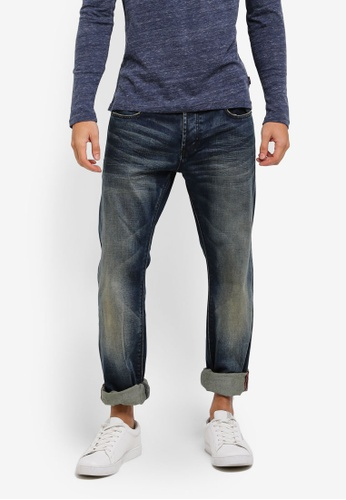 Superdry blue Officer Straight Jeans SU137AA0T234MY_1