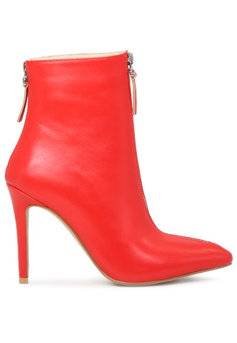 London Rag 紅色 紅色拉链靴子 SH1705 8BC1ASH5BE89BFGS_1