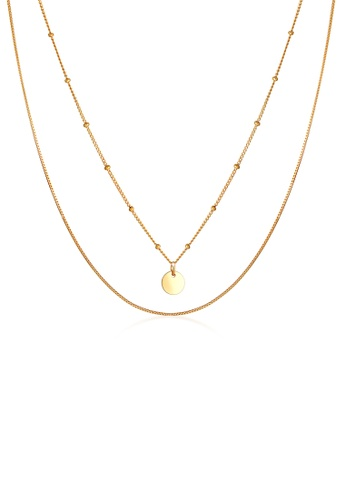 ELLI GERMANY gold Layer Ball Circle Gold Plated Necklace 38FA3AC1AB7E88GS_1
