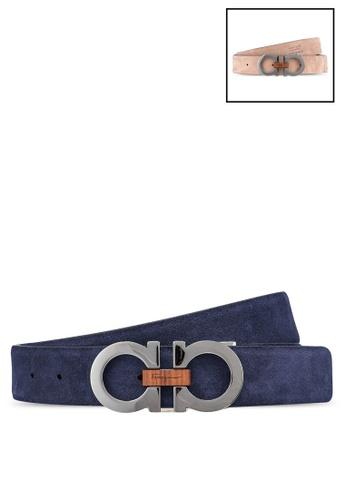 Ferragamo blue Gancini Reversible Belt (zt) 613A2AC65968D8GS_1