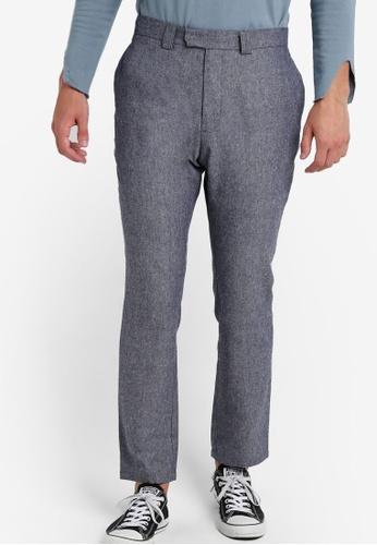 ZALORA blue Nt-Cotton Linen Trousers EAA37AA036CD39GS_1