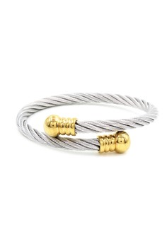 Chental Twisted Cable Wire End Cuff Bracelet