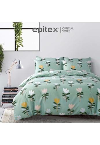 Epitex multi Epitex Silkysoft 900TC SP9052-4 Fitted Sheet Set (w/o quilt cover) - Bedsheet - Bedding Set B50ADHL6A19A10GS_1