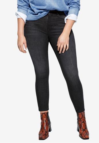 Violeta by MANGO grey Plus Size Jeans Bi-Stretch Push-Up Irene D57B0AA10C6C79GS_1