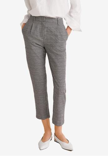 Mango black Gingham Check Pattern Trousers 460CDAA71F4729GS_1