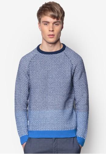 色塊羅紋針織長袖衫, 服飾, 外adl esprit套