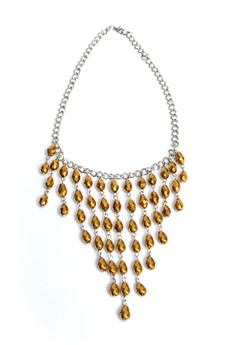 Chandelier Crystal Charms Elegant Necklace Uniquely Handmade