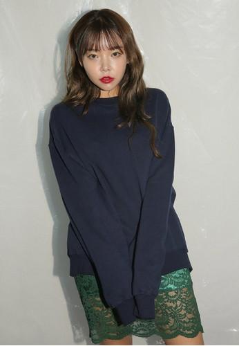 韓時尚背面繡esprit au花長袖衫, 服飾, 外套