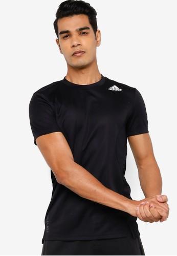 ADIDAS black training tee heat.rdy C46CAAAD634DC7GS_1