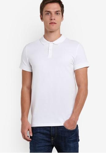 Calvin Klein white Jersey Polo Shirt - Calvin Klein Jeans CA221AA54DCVMY_1