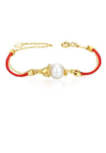 SUNSET gold Premium 925 Sliver Pearl Bracelet E77EEACE086987GS_1