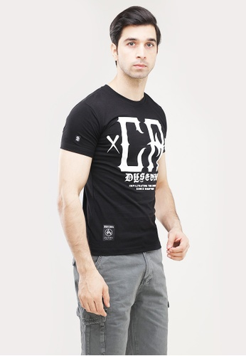 Dyse One black Round Neck Muscle Fit T-Shirt 272B4AAF6E7E6BGS_1