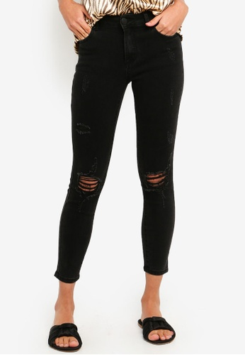 Cotton On black Mid Rise Grazer Skinny Jeans 2 5D882AA73989F8GS_1