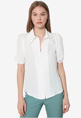 Trendyol white Collar Detail Shirt 901F8AA3F0F772GS_1