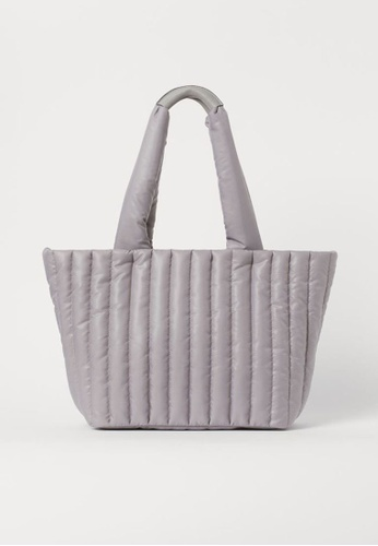 H&M grey Quilted Shopper Bag A0F32AC68A51E0GS_1