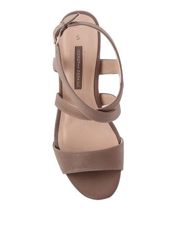 506ea57dcd52 Buy Dorothy Perkins Spye Taupe Crossover Heels Online