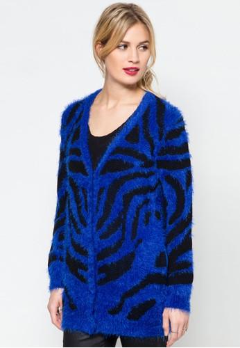 撞色條紋針織外套, 服飾, zalora時尚購物網評價服飾