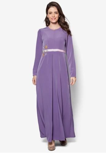 Safana 02 珠繡褶飾長洋裝esprit官網, 韓系時尚, 梳妝