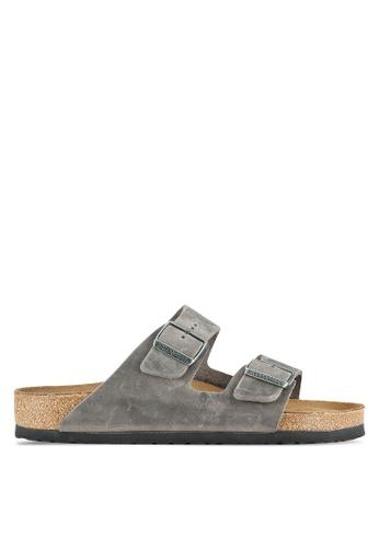 Birkenstock grey Arizona NU SFB Sandals BI090SH0RTJ3MY_1